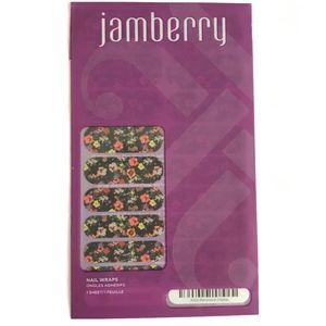Jamberry Nail Wraps Reminisce Black Floral Matte
